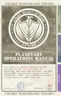Halo Wars manual, the Planetary Operations Manual.