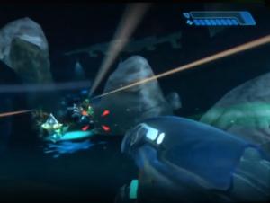 Screenshot of the alphamoon level cut from Halo 2.